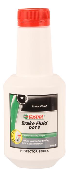 Castrol Brake Fluid DOT 3 500mL 3377668 Sparesbox - Image 1