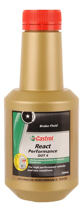 Castrol React Performance Brake Fluid DOT 4 500mL 3377737 Sparesbox - Image 1