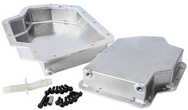 "Aeroflow AF72-3001 3"" Deep Fabricated Transmission Pan Inc Filter Extension Fits TH400 Sparesbox - Image 1"