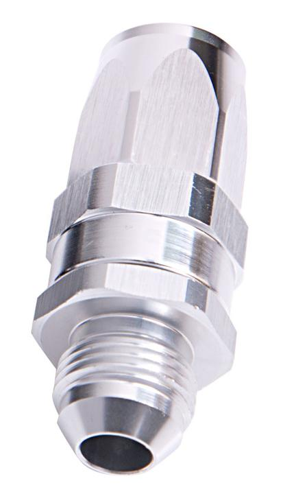Aeroflow AF840-10S Male -10AN To -10AN Hose End Silver Straight Male To Male AF840-10S Sparesbox - Image 1