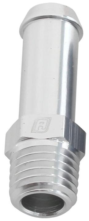 """Aeroflow AF841-04-01S Male 1/16"""" Npt To 1/4"""" Barb Silver Straight Male To Male Sparesbox - Image 1"""