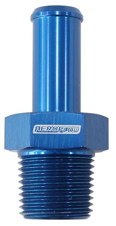 """Aeroflow AF841-04AN Male Blue 1/8"""" Npt To -4an Barb Straight Suit 100/450 Series Hose Sparesbox - Image 1"""