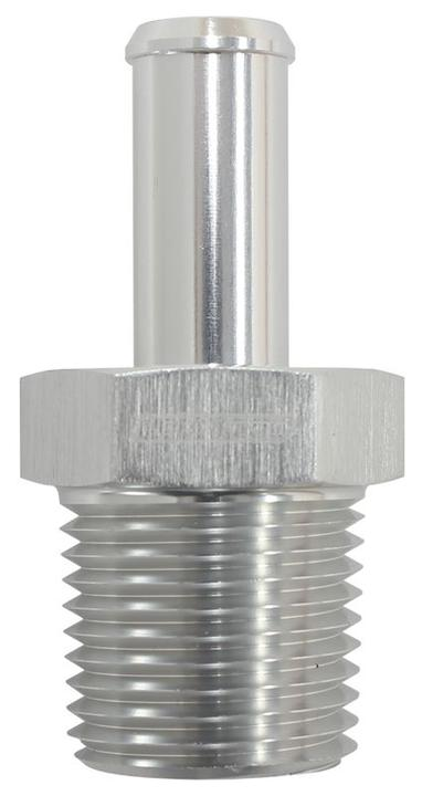 """Aeroflow AF841-06-06ANS Silver Male 3/8"""" Npt To -6an Barb Straight Suit 100/450 Series Hose Sparesbox - Image 1"""