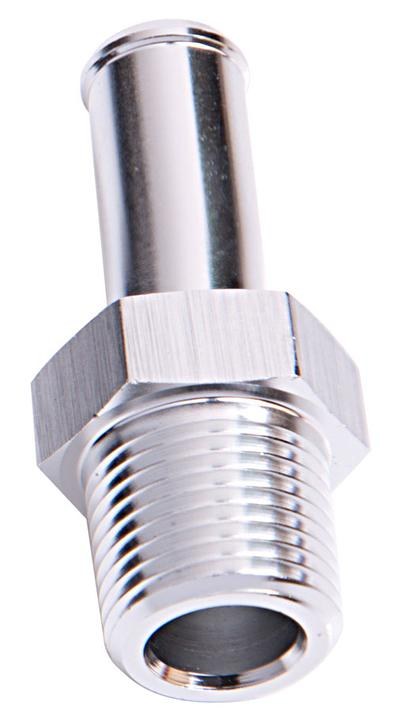 """Aeroflow AF841-08-06S Male 1/2"""" Npt To 3/8"""" Barb Silver Straight Male To Male Sparesbox - Image 1"""