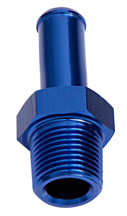 """Aeroflow AF841-08-08 Male 1/2"""" Npt To 1/2"""" Barb Blue Straight Male To Male Sparesbox - Image 1"""