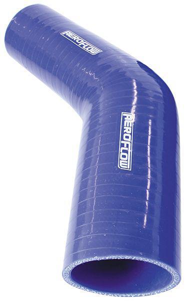 "Aeroflow AF9002-275-250 Silicone Hose Reducer 45Deg; Blue  2.75-2.50"" 70-63mm Sparesbox - Image 1"