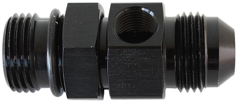 "Aeroflow AF904-06BLK -6orb To -6an With 1/8"" Port Black Sparesbox - Image 1"