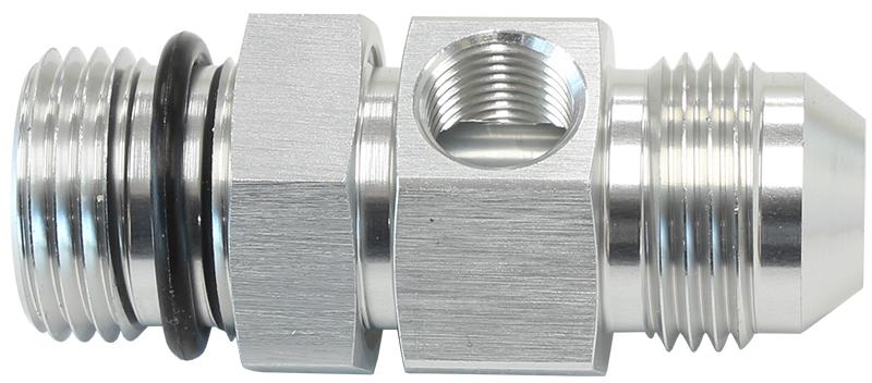 """Aeroflow AF904-06S -6orb To -6an With 1/8"""" Port Silver Sparesbox - Image 1"""