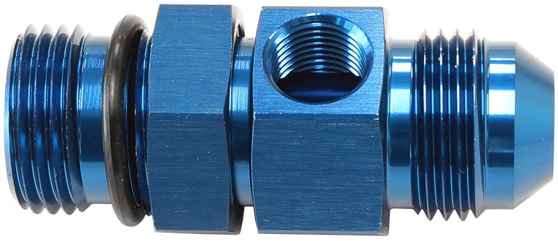 """Aeroflow AF904-08 -8orb To -8an With 1/8"""" Port Blue Sparesbox - Image 1"""