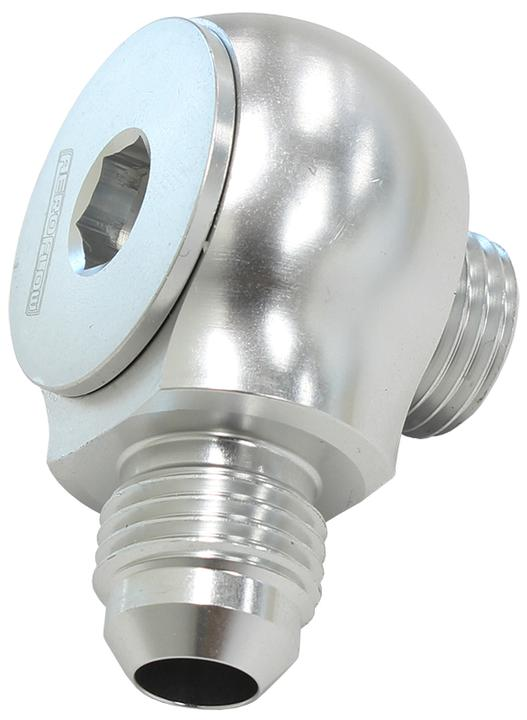 Aeroflow AF909-08-10S Slimline -10orb To -8an 90Degfor Use In Tight Radius Area Sparesbox - Image 1