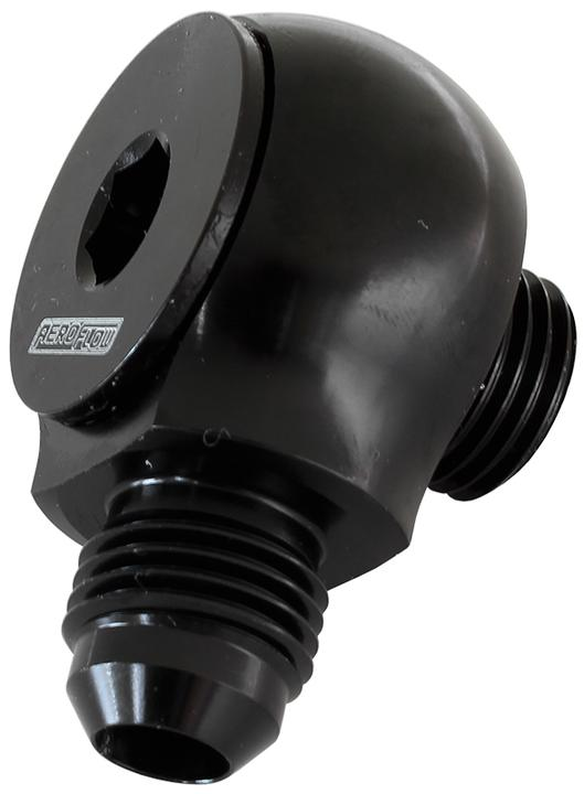 Aeroflow AF909-08BLK Slimline -8orb To -8an 90Deg For Use In Tight Radius Area Sparesbox - Image 1