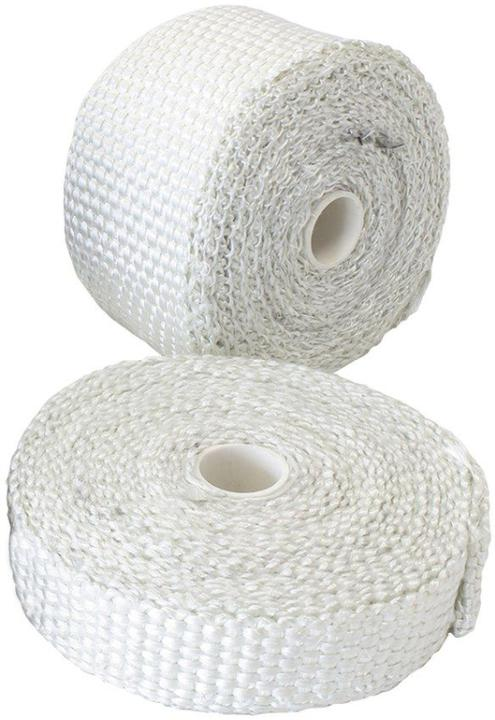"""Aeroflow AF91-3000 Exhaust Insulation Wrap1""""x50Ft50 Foot White Roll Sparesbox - Image 1"""