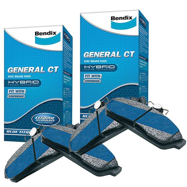 Bendix General CT Brake Pad Set Front and Rear DB1989-DB1990GCT Sparesbox - Image 1