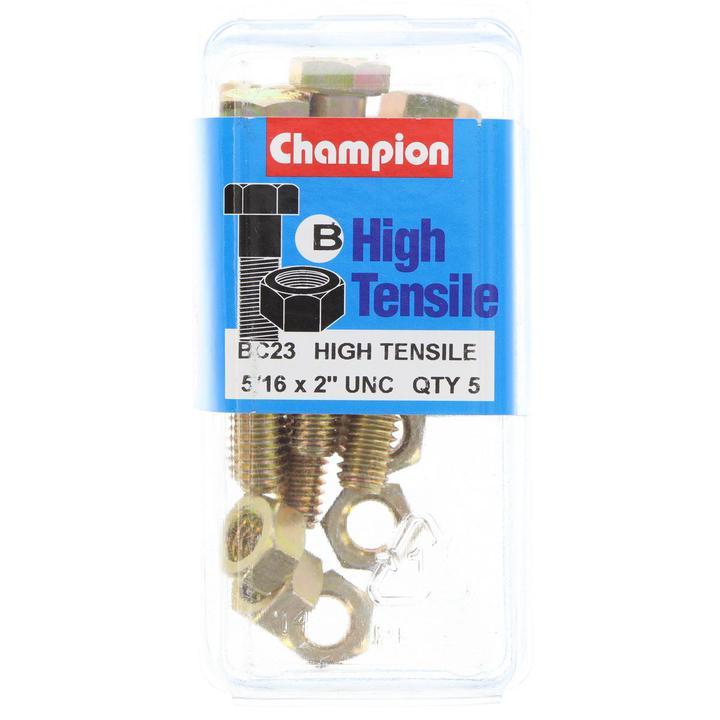 Champion Bolt & Nut Pack UNC 2 x 5/16 BC23 Sparesbox - Image 1
