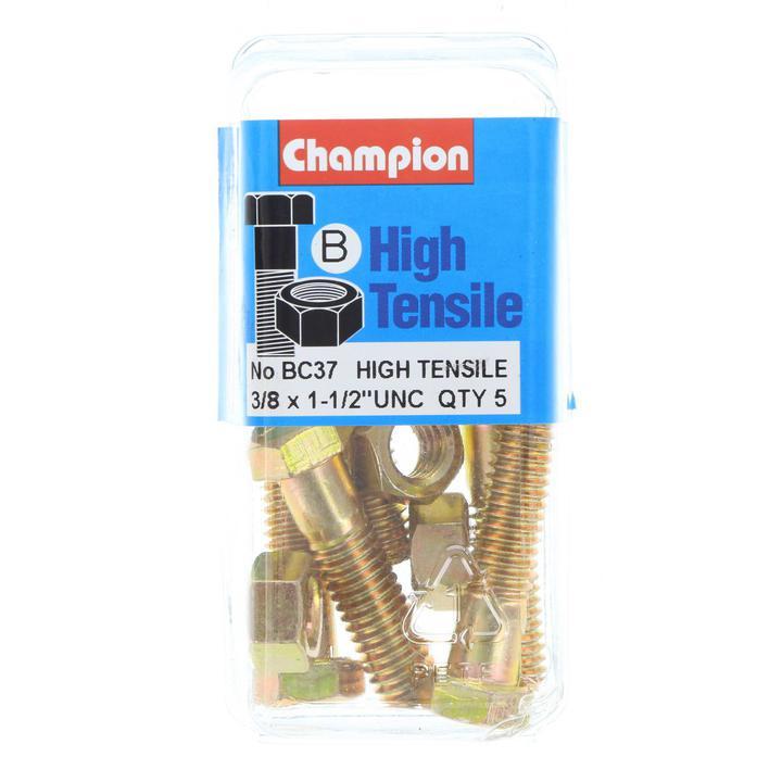 Champion Bolt & Nut Pack UNC 1-1/2 x 3/8 BC37 Sparesbox - Image 1
