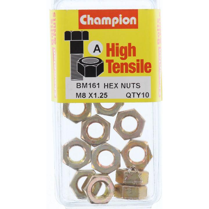 Champion Nut Pack Metric M8x1.25 BM161 Sparesbox - Image 1