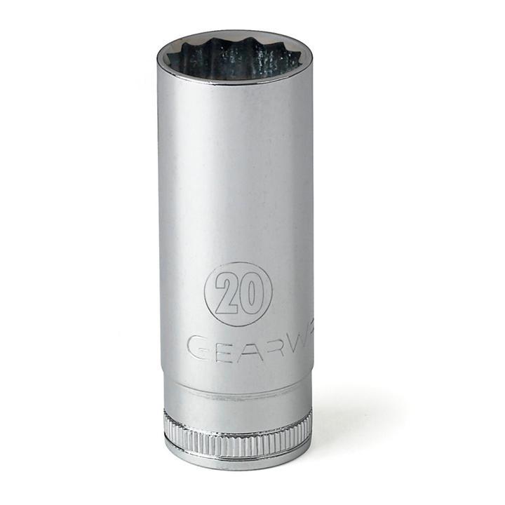"GearWrench Socket 1/2"" Drive Deep 12pt MET 19mm Sparesbox - Image 1"