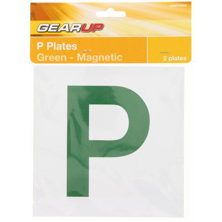 Gearup Magnetic Probationary Plate Set Green Sparesbox - Image 1