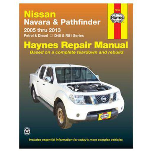 Haynes Repair Manual Suits Nissan Navara & Nissan Pathfinder 05-13 72732 Sparesbox - Image 1