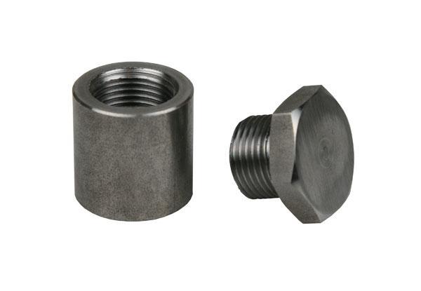 Extended Mild Steel O2 Sensor Bung & Plug 1 Inch Tall Sparesbox - Image 1