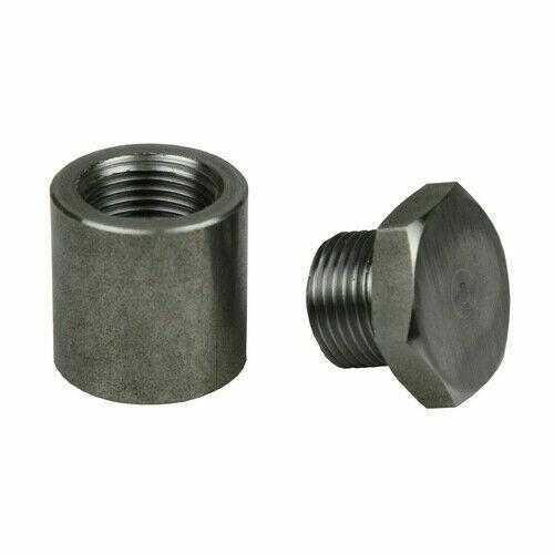 Extended Stainless Steel O2 Sensor Bung & Plug 1 Inch Tall Sparesbox - Image 1