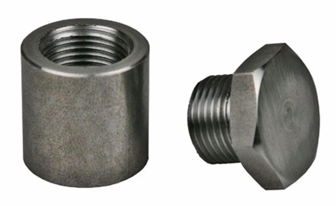 Extended Titanium O2 Sensor Bung & Plug 1 Inch Tall Sparesbox - Image 1