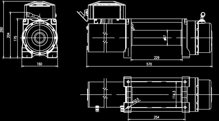 Mean Mother 4x4 Edge Electric Winch 9500lb EW9500 Sparesbox - Image 2