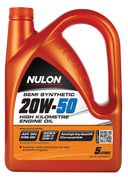 Nulon Semi Synthetic High KM Engine Oil 20W50 5L Sparesbox - Image 1