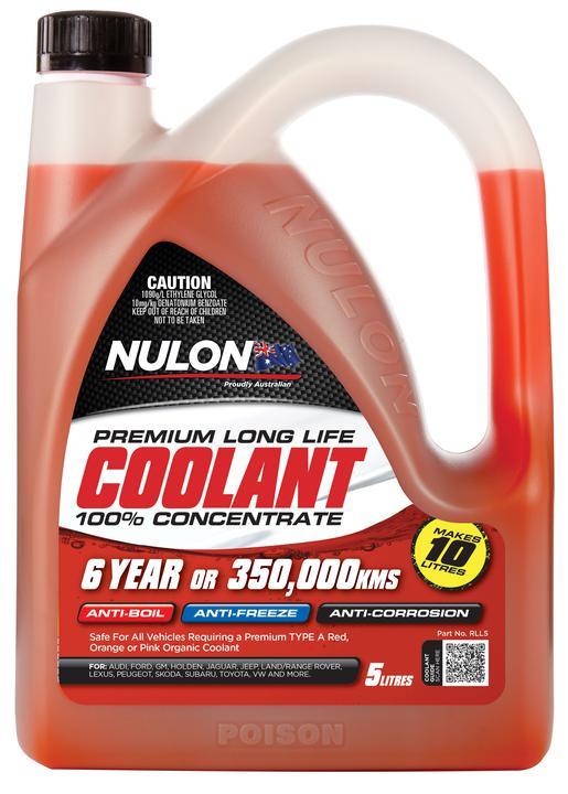 Nulon Coolant Red Long Life Concentrate 5L Sparesbox - Image 1