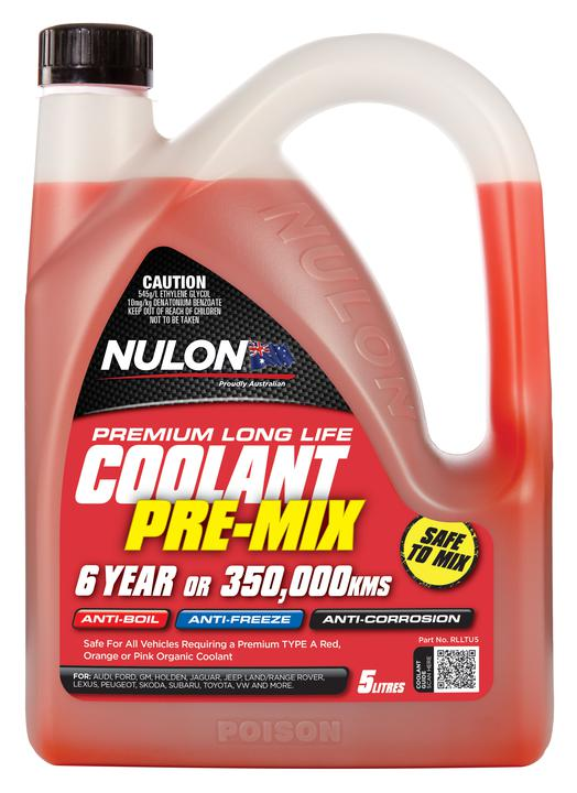 Nulon Coolant Red Long Life Pre-mix 5L Sparesbox - Image 1