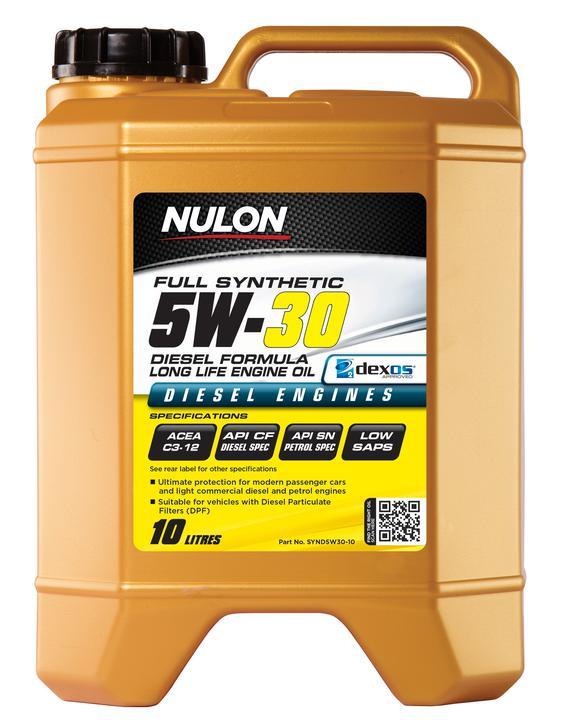 Nulon Full Synthetic Diesel Formula Long Life Engine Oil 5W30 10L Sparesbox - Image 1