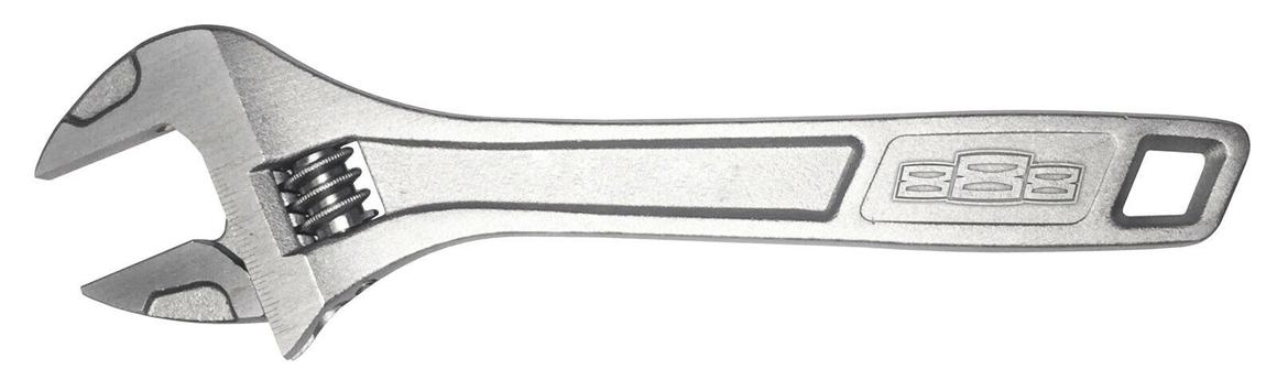 888 Tools By SP Tools Adjustable Wrench 250mm Chrome Sparesbox - Image 1