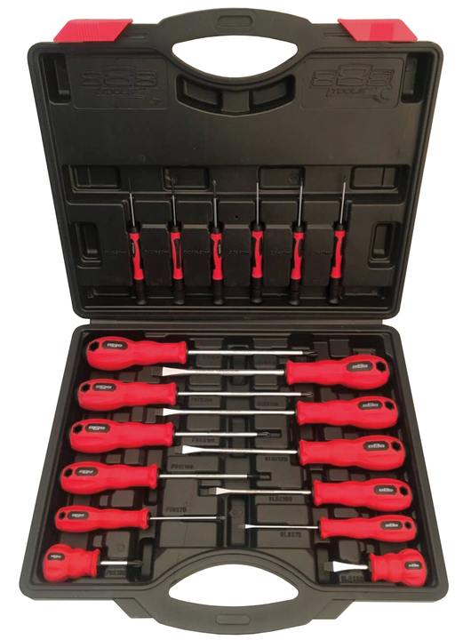 888 Tools By SP Tools Screwdriver Set 18Pc Sparesbox - Image 1