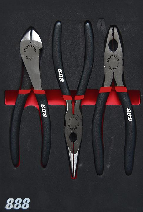 888 By SP Tools 3Pc Plier/Cutter Set In Eva Sparesbox - Image 1