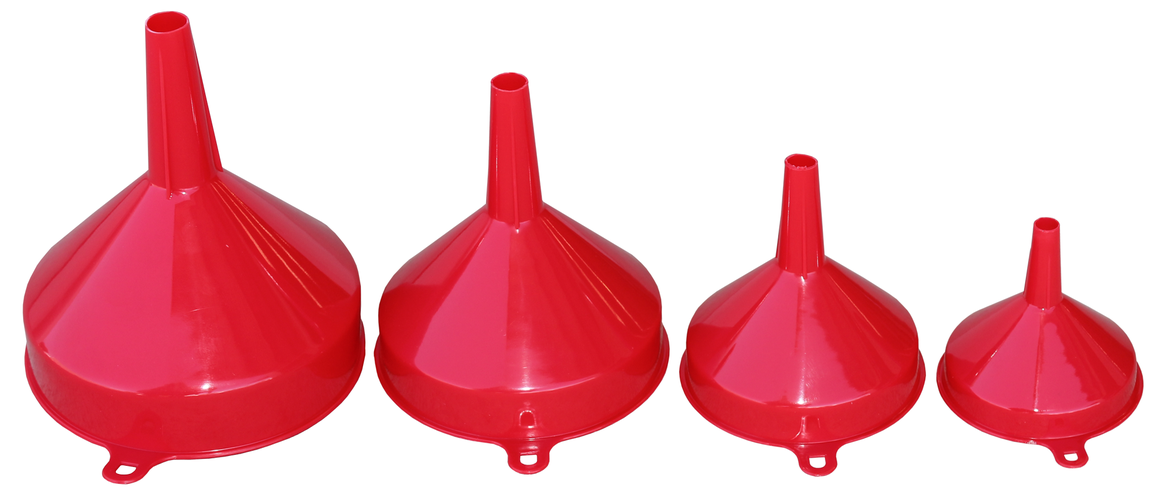888 By SP Tools Funnel Set 4Pc - 80mm 100mm 120mm 140mm Sparesbox - Image 1