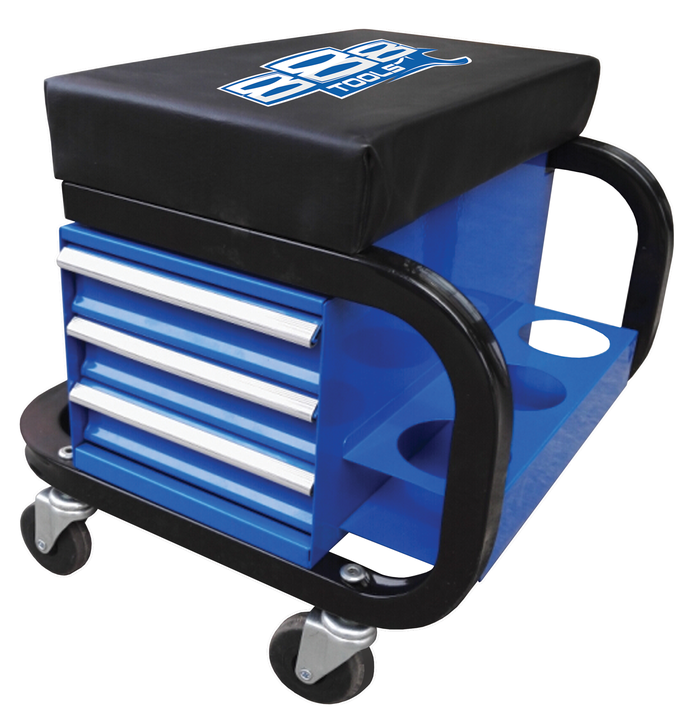 888 By SP Tools Roller Seat With Storage Sparesbox - Image 1