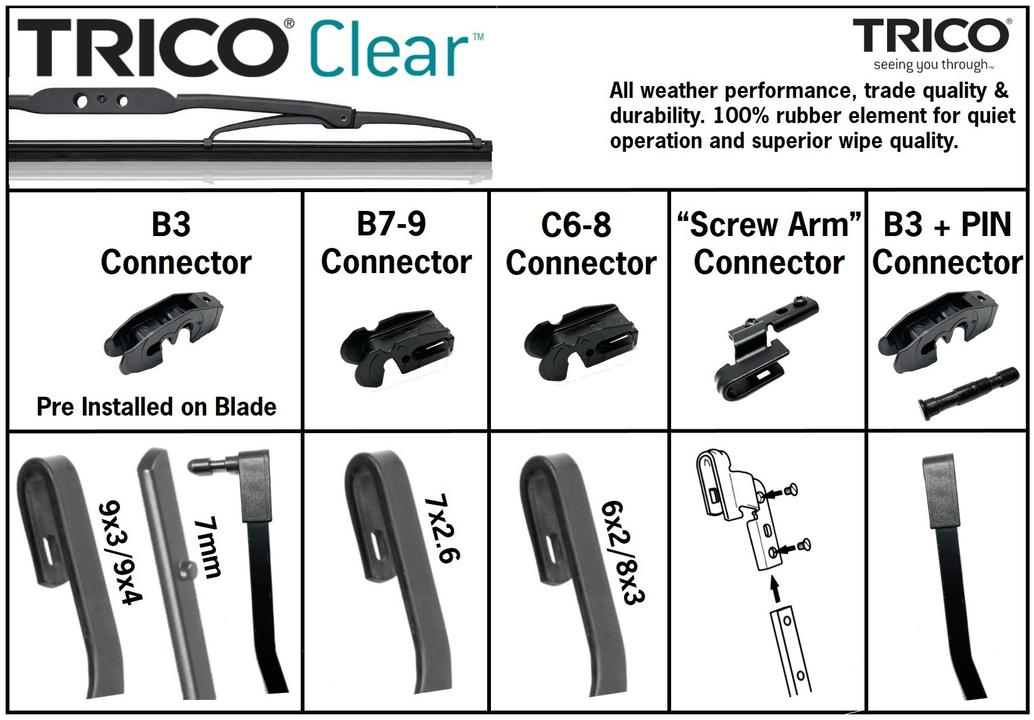 Trico Clear Wiper Blade 380mm TCL380 Sparesbox - Image 3