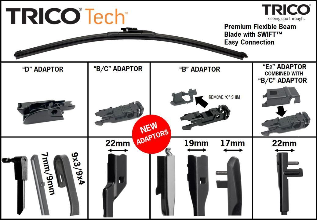 Trico Tech Beam Wiper Blade TEC610 Sparesbox - Image 4